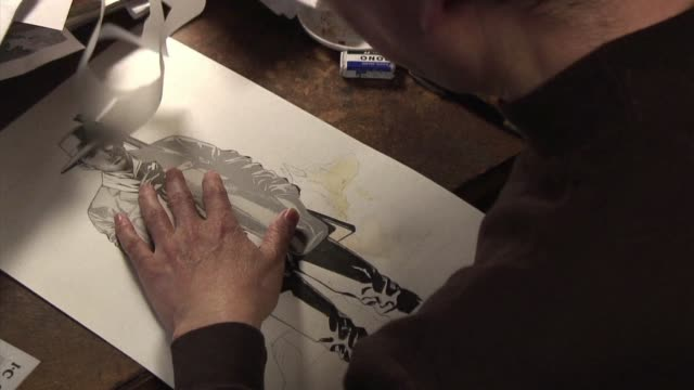 shut away in his tokyo studio as the post-march 11 crisis unfolded, jiro taniguchi, one of the masters of japanese manga cartoons, nearly gave up on... - manga style stock videos & royalty-free footage