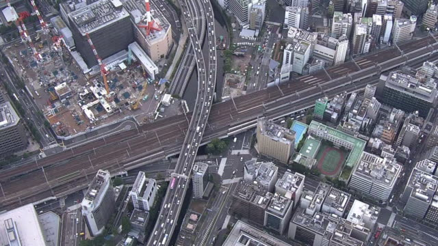 aerial, shuto expressway, tokyo, japan - organised group stock videos & royalty-free footage