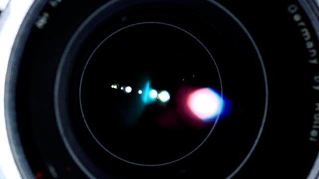 shutter inside lens openning in slow motion