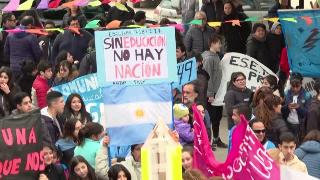 shuttered schools hospital services pared back to a minimum officials on strike argentina's southern oil producing province of chubut is a microcosm... - provinz chubut stock-videos und b-roll-filmmaterial