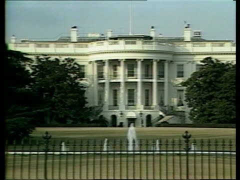 usa washington gv whitehouse zoom in eng via sat - cnn stock videos & royalty-free footage