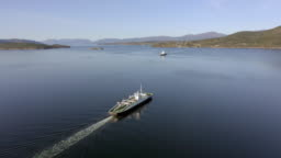 Shuttle Ferry Service in Norway Transporting Passengers and Vehicles