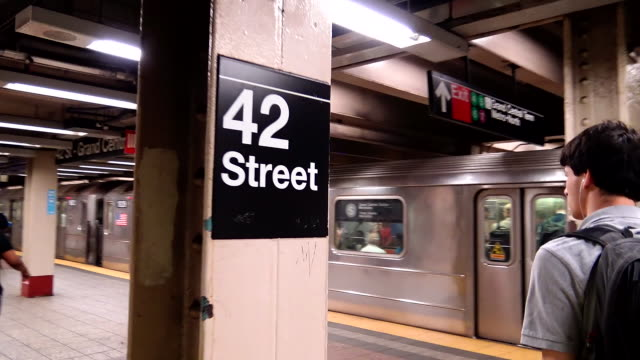 """pov, shuttle subway """"s"""", grand central, new york city - poster stock videos and b-roll footage"""