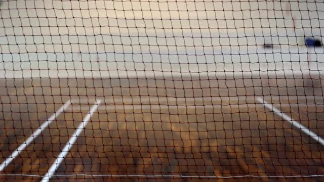 vidéos et rushes de volant en appuyant sur les compétences - badminton sport