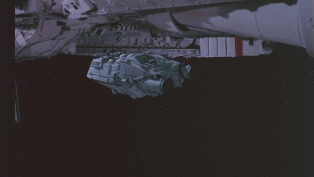 shuttlecraft gal 366 r-l into galactica docking bay - futuristic stock videos & royalty-free footage