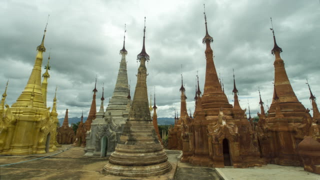 shwe inn dein pagoda, inle lake, myanmar - 4k time lapse - inn stock videos and b-roll footage