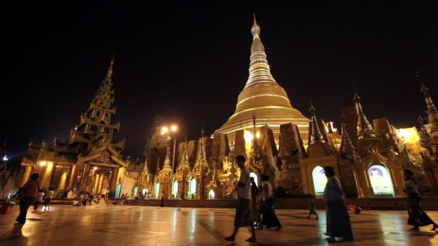 Shwedagon Pagoda in Bagan at Night 2