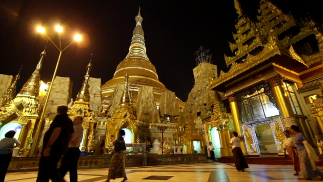 Shwedagon Pagoda in Bagan at Night
