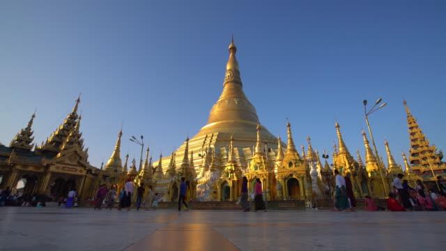 shwedagon pagoda in yangon, myanmar - bagan stock videos & royalty-free footage