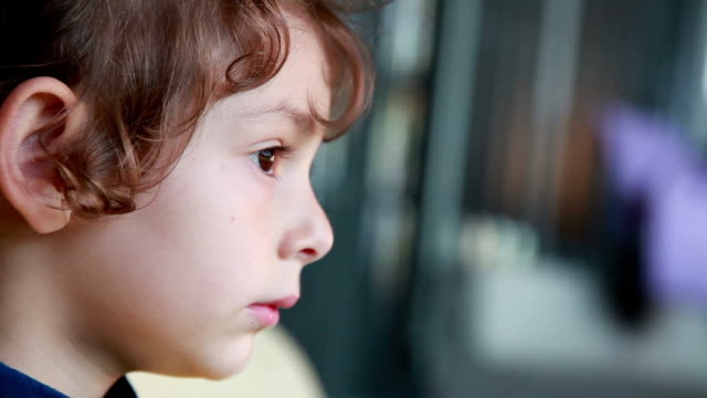 shy little girl peeking at the boy - profile stock videos & royalty-free footage
