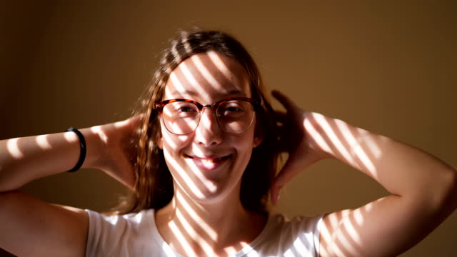 shy playful woman - shy stock videos & royalty-free footage