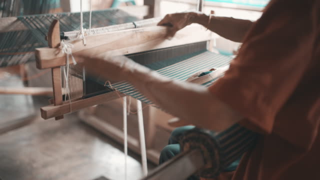 siamese hand weaving cotton - guatemala stock videos & royalty-free footage