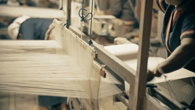 siamese hand weaving cotton - string stock videos & royalty-free footage