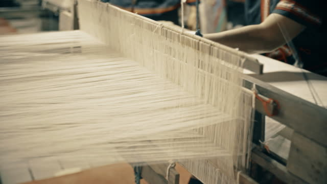 siamese hand weaving cotton - cotton stock videos and b-roll footage