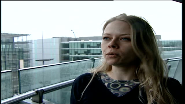sian berry to represent green party in 2008 london mayor election 2722007 london ext sian berry interview sot - green party stock videos and b-roll footage