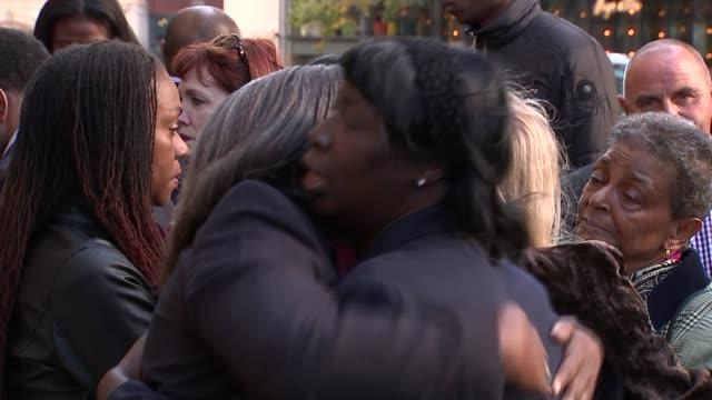 arthur simpsonkent sentenced for life old bailey women hugging outside court people outside court - arthur simpson kent stock videos & royalty-free footage