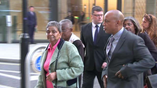 Family give victim statement to court ENGLAND London EXT Various of members of the family of murdered EastEnders actress Sian Blake including her...