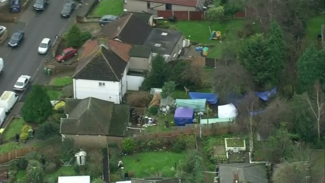 arthur simpsonkent paraded before press lib / january 2016 england kent erith police tents in garden of house where bodies of sian blake and her two... - arthur simpson kent stock videos & royalty-free footage