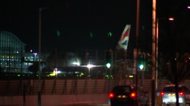 arthur simpsonkent returns to uk from ghana england london heathrow airport british airways plane taxiing - arthur simpson kent stock videos & royalty-free footage