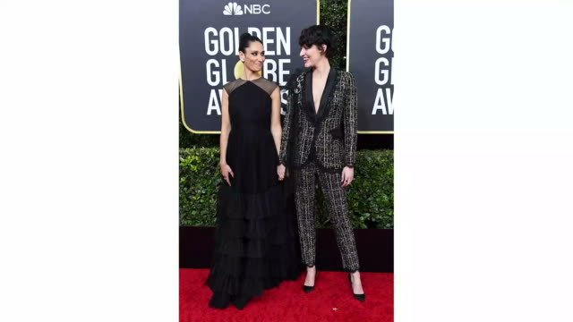 sian clifford and phoebe waller-bridge attends the 77th annual golden globe awards at the beverly hilton hotel on january 05, 2020 in beverly hills,... - golden globe awards stock videos & royalty-free footage