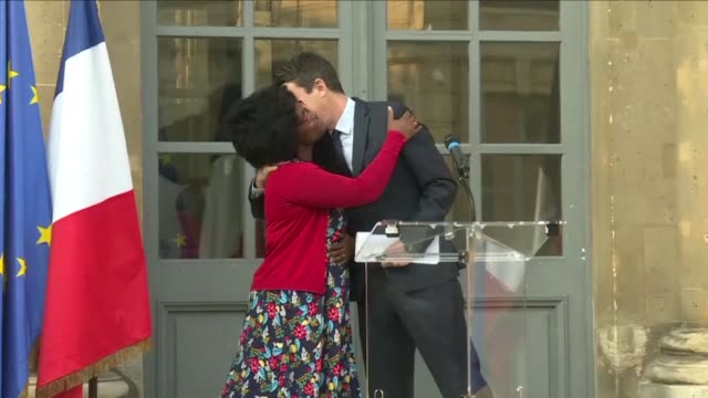 sibeth ndiaye the french government's new spokesperson pays tribute to her senegalese parents for helping her break the glass ceiling as she succeeds... - benjamin griveaux stock videos & royalty-free footage