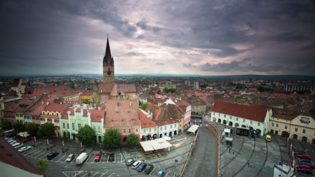 time lapse: sibiu romania - romania stock videos and b-roll footage