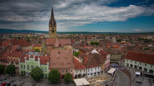 time lapse: sibiu - transylvania stock videos & royalty-free footage