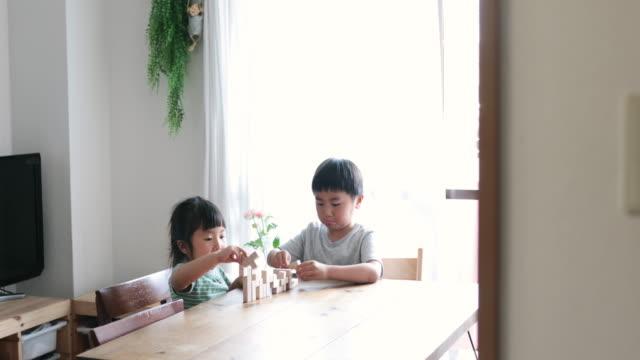 家庭で勉強する兄弟 - 遊具点の映像素材/bロール