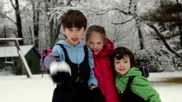 ms siblings (4-9) hugging and smiling at camera / yarmouth, maine, usa - brother stock videos & royalty-free footage