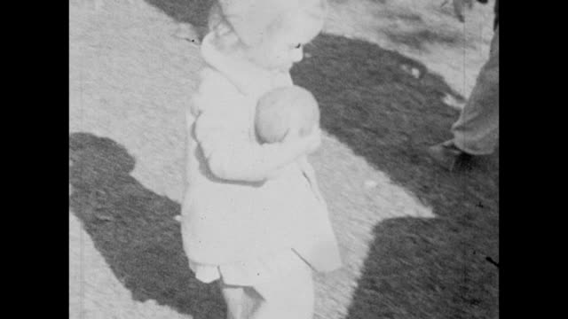 1931 siblings playing with ball and hugging - 1931 stock videos & royalty-free footage