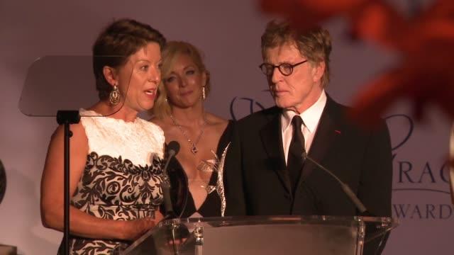 sibylle szaggars redford robert redford at the 2015 princess grace awards gala on september 05 2015 in monaco monaco - sibylle szaggars stock-videos und b-roll-filmmaterial
