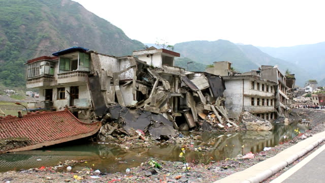 sichuan earthquake ruin - damaged stock videos & royalty-free footage