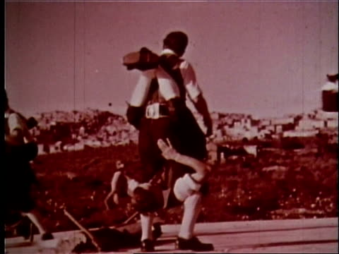 1958 sicily travelogue - 12 of 13 - sicily stock videos and b-roll footage
