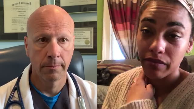 sick female patient video conferencing with her doctor. - general practitioner stock videos & royalty-free footage