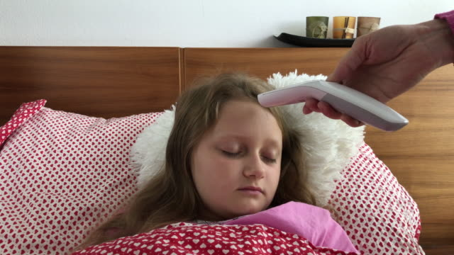 sick girl in the bed - czech republic stock videos & royalty-free footage