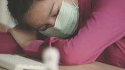 Sick with mask