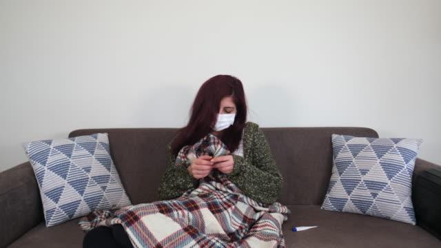 sick woman - symptom stock videos & royalty-free footage