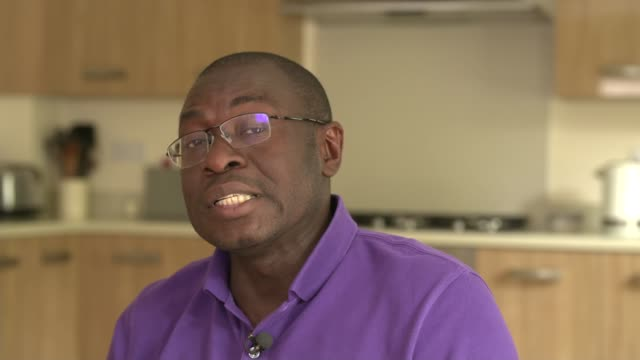 adewale lawal undergoes new form of stem cell transplant int adewale lawal interview sot people along through glass 'welcome to king's college... - sickle stock videos & royalty-free footage