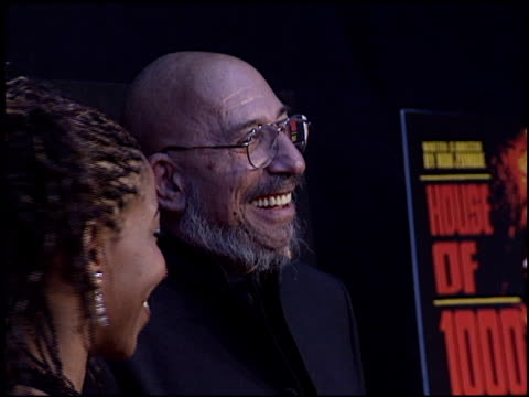 sid haig at the 'house of 1000 corpses' premiere at arclight cinemas in hollywood california on april 9 2003 - arclight cinemas hollywood video stock e b–roll