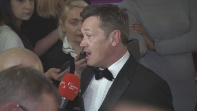 sid owen at national film awards at porchester hall on march 30, 2016 in london, england. - ポーチェスター点の映像素材/bロール