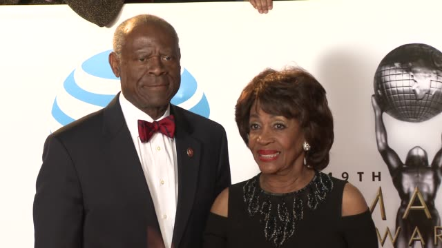 Sid Williams and Maxine Waters at the 49th NAACP Image Awards at Pasadena Civic Auditorium on January 15 2018 in Pasadena California