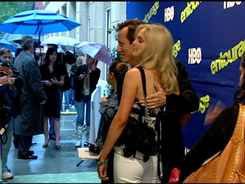 side angle cu to ms james woods and ashley madison posing for paparazzi on red carpet - actor stock videos & royalty-free footage
