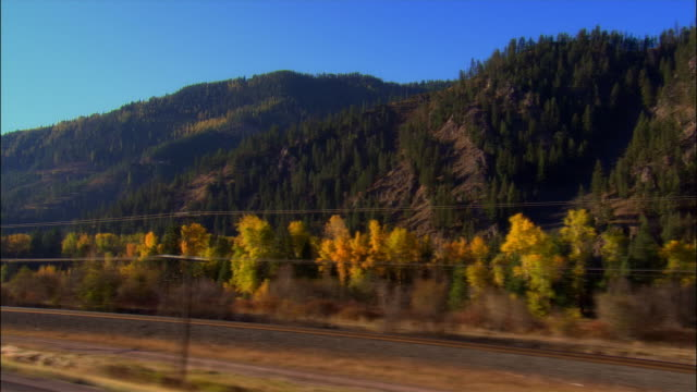 side car point of view driving along highway 10 south of missoula, montana on clear day - montana stock-videos und b-roll-filmmaterial