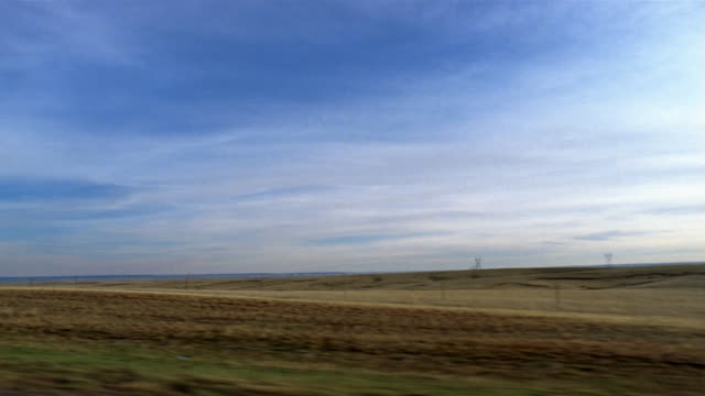 side car point of view driving past plains / south dakota - south dakota stock-videos und b-roll-filmmaterial
