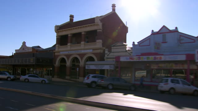 MS SLO MO Side POV Driving through town / Coolgardie and Kalgoorlie, Western Australia, Australia