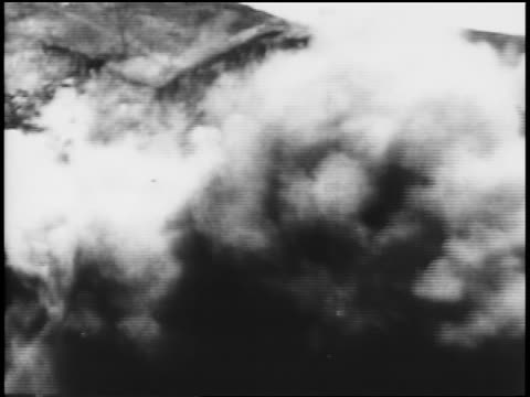 b/w 1906 side of mountain falling after being dynamited / construction of panama canal / newsreel - panama canal stock videos & royalty-free footage