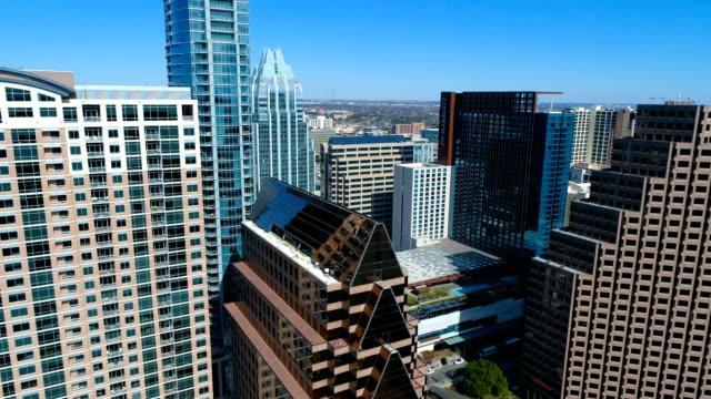 side pan high skyline cityscape austin , texas , usa - austin texas stock videos & royalty-free footage