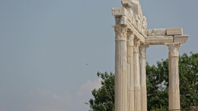 side temple of the apollon - naxos greek islands stock videos & royalty-free footage