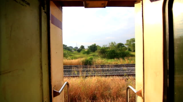 Side view from a passenger train.