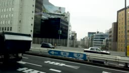 Side view from bus in Tokyo , Japan